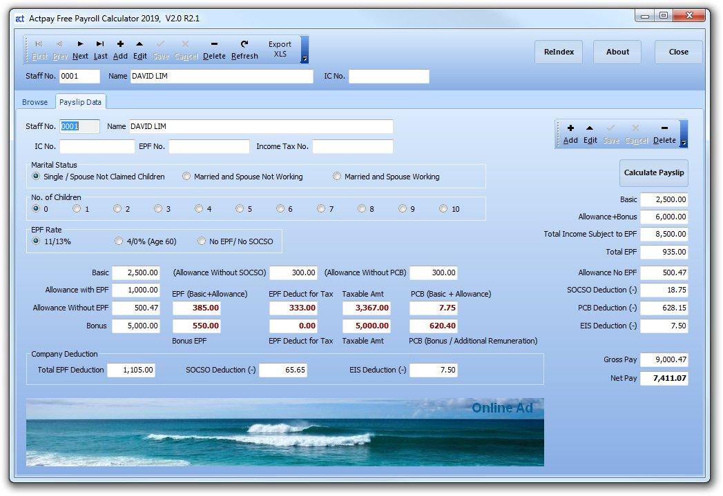 Free payroll software - Malaysia